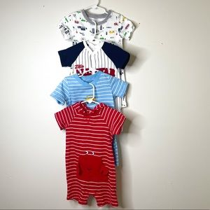 4PC CARTER'S TODDLER BOYS ONE PIECE ROMPER